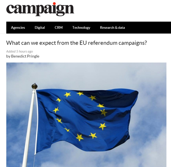 EU referendum benedict pringle campaign magazine
