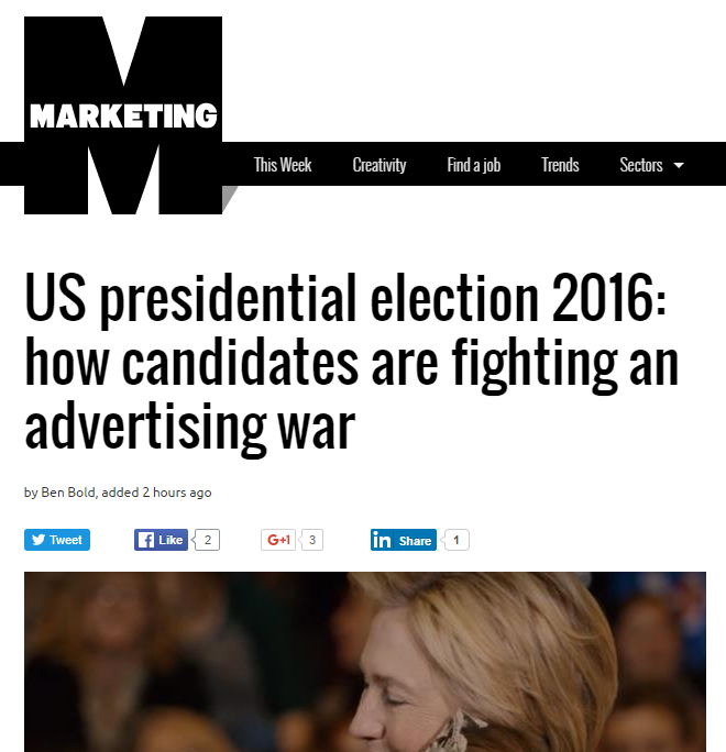 Best ads of US presidential primaries 2016 benedict pringle Marketing Magazine