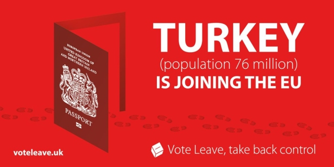 Vote Leave - Turkey is joining the EU - poster
