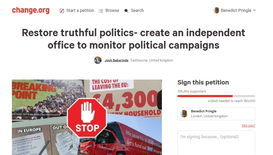 restore truthful politics - regulate political advertising change