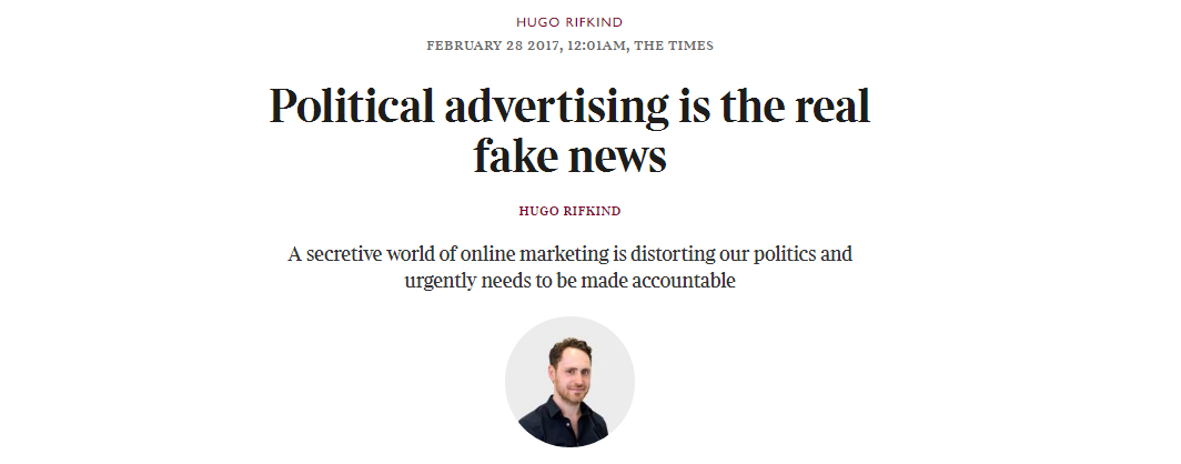 Is digital political advertising causing a democratic deficit?