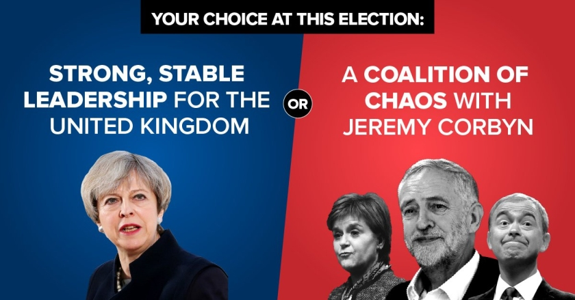Conservative GE2017 - Strong Stable vs Coalition Chaos