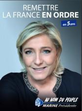 Tract de Marine Le Pen - Remettre la France en ordre 1