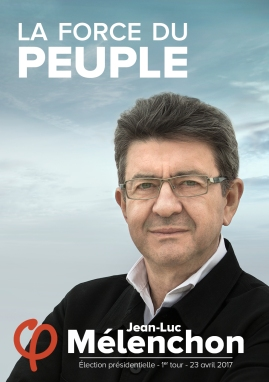 Melenchon official campaign poster
