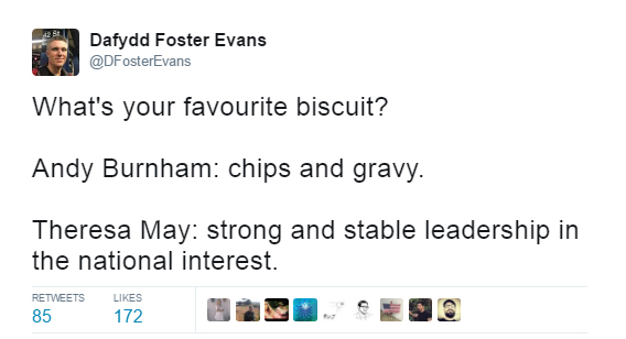 Strong and stable - chips and gravy