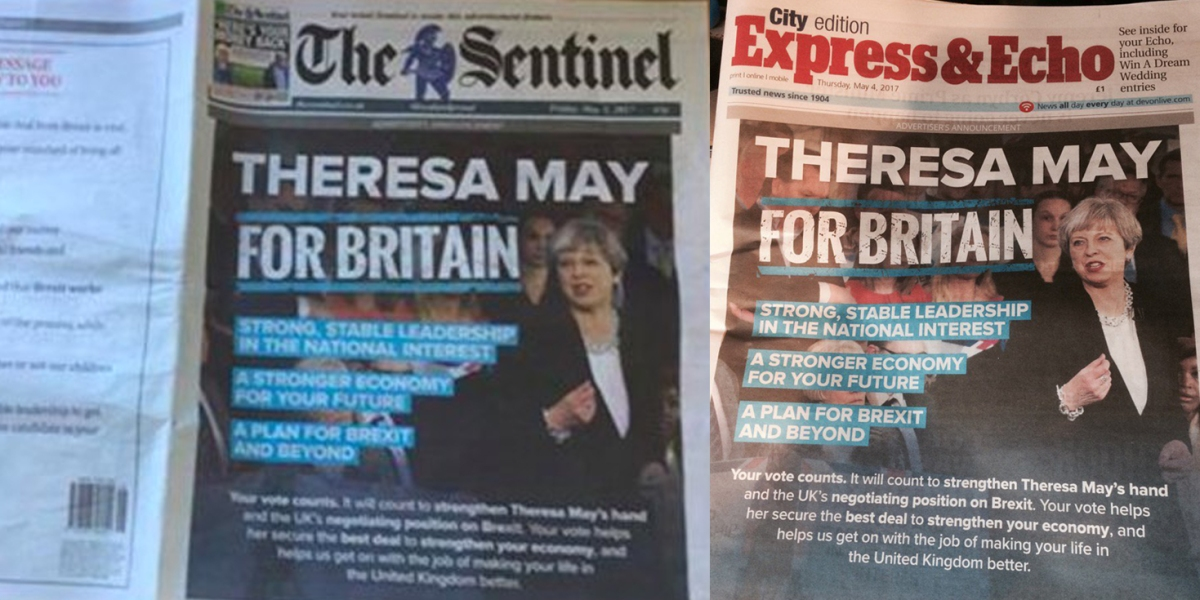 Political advertising in local newspapers is both legal and morally justifiable, so get overit