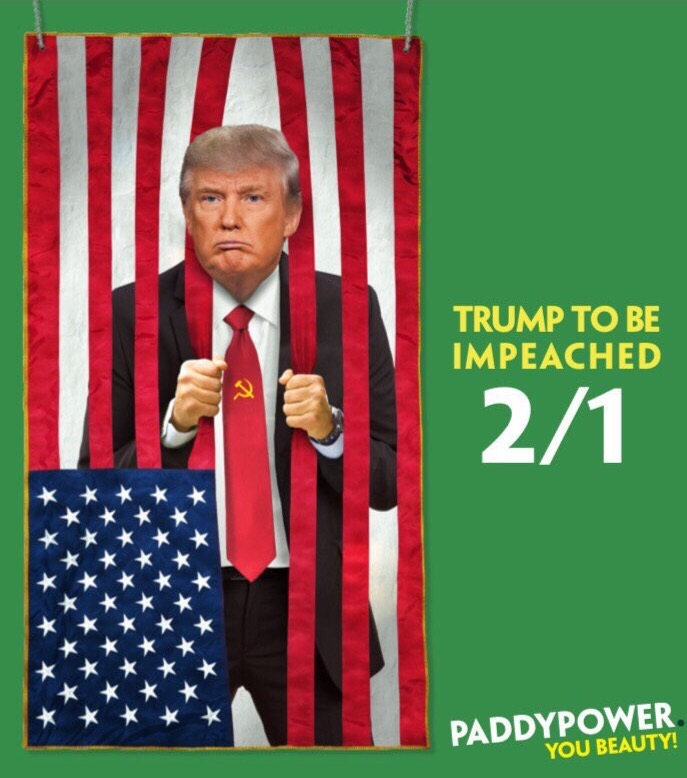 Paddy Power odds on Trump to be impeached