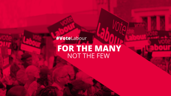 Labour Party 2017 slogan - for the many not the few