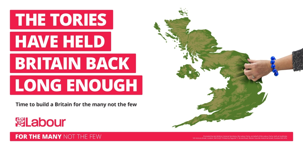 Labour poster: the Tories are holding Britain back