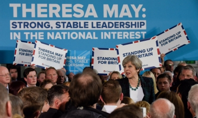 Strong and stable leadership - rally theresa may