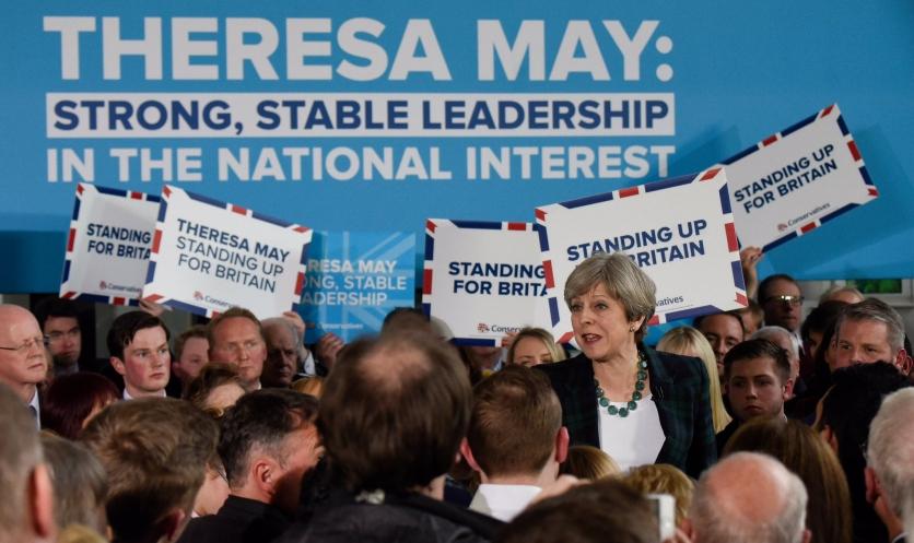 Strong and stable leadership - rally theresa may