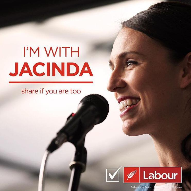 I'm with jacinda ardern new zealand 2017 labour