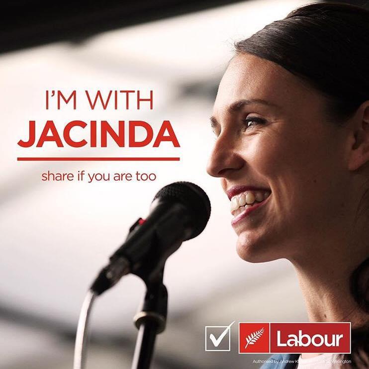 I'm with jacinda ardern new zealand 2017 labour