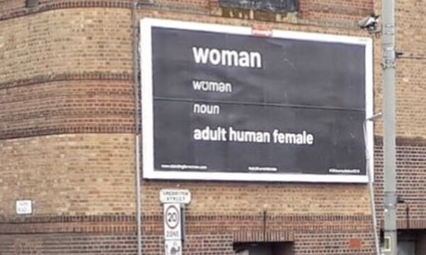 Definition Of Woman Poster Taken Down Politicaladvertisingcouk