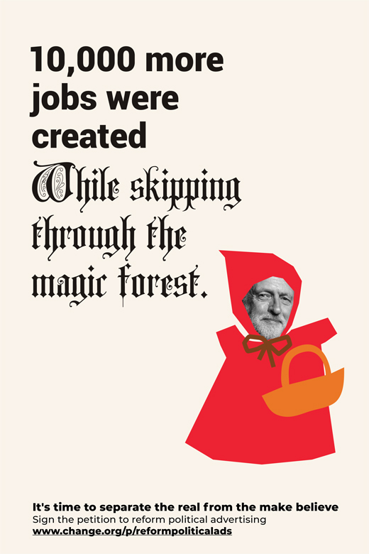 RedRiding reform political advertising Corbyn